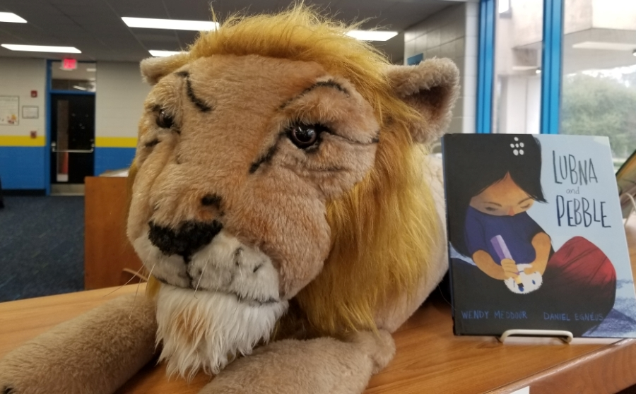 lion and book